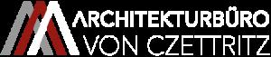 Logo Architekturbüro von Czettritz weiß